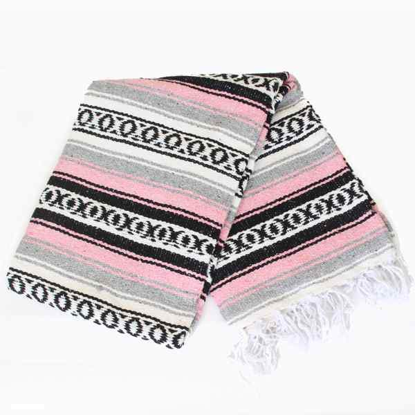 Mexican Falsa Blanket Large - Pink
