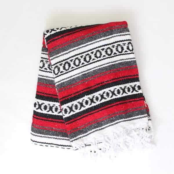 Mexican Falsa Blanket Large - Red