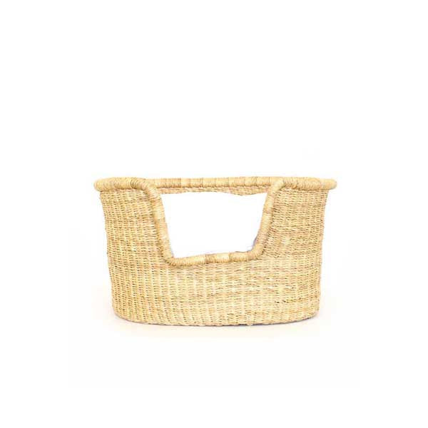 Dog Bed Basket (cushion included) - Extra Small Natural