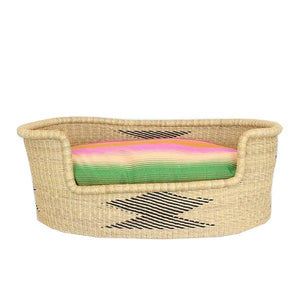 Dog Bed Insert Cover - Rainbow Pastels