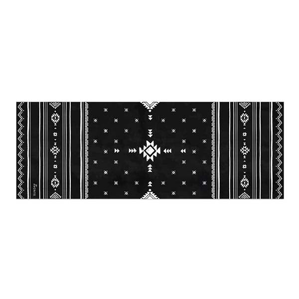 Santa Fe Black Yoga Mat with Carry Strap