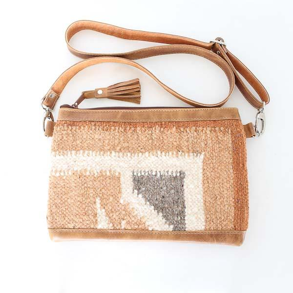 Santa Fe Wool Crossbody Convertible Bag 780
