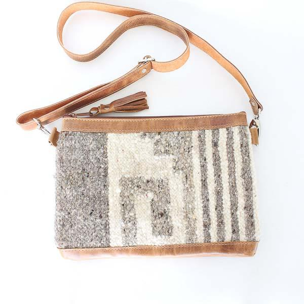 Santa Fe Wool Crossbody Convertible Bag 782