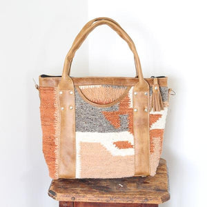 Santa Fe Wool Convertible Tote Bag 755