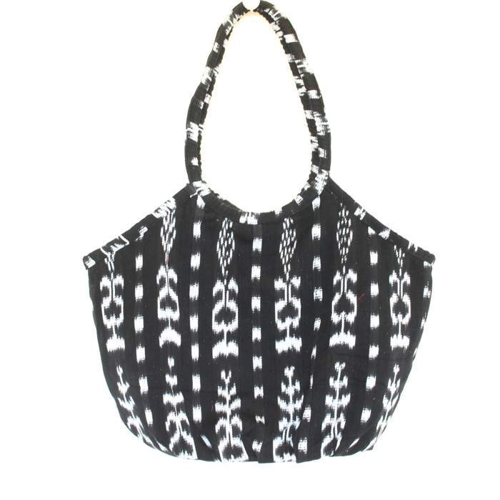 Soleado Beach Bag Black Ikat
