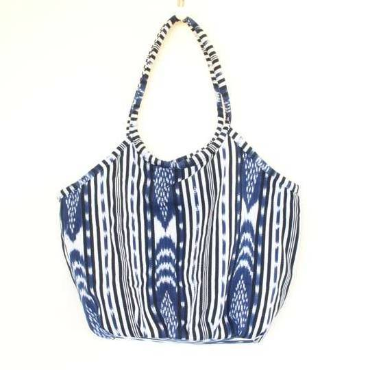 Soleado Beach Bag Blue Ikat
