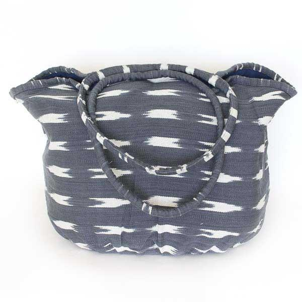 Soleado Beach Bag Grey Ikat