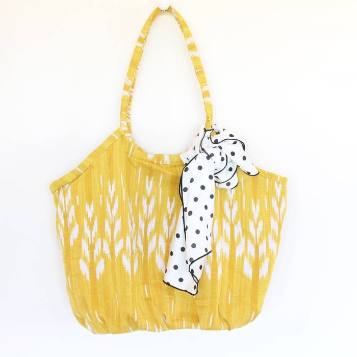Soleado Beach Bag Yellow Ikat