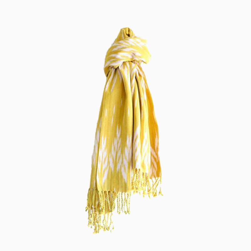 Keen as Mustard Tassel Throw - sundayisle