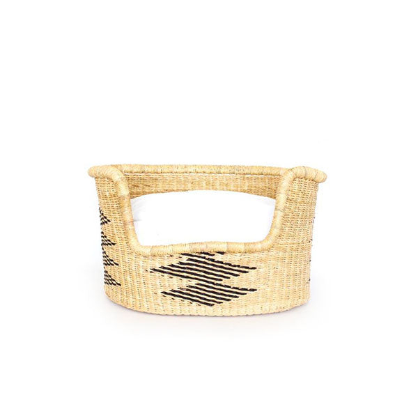 Dog Bed Basket (cushion included) - Extra Small / Design 11