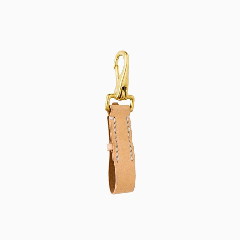 Haiti Leather Keyfob Cream - sundayisle