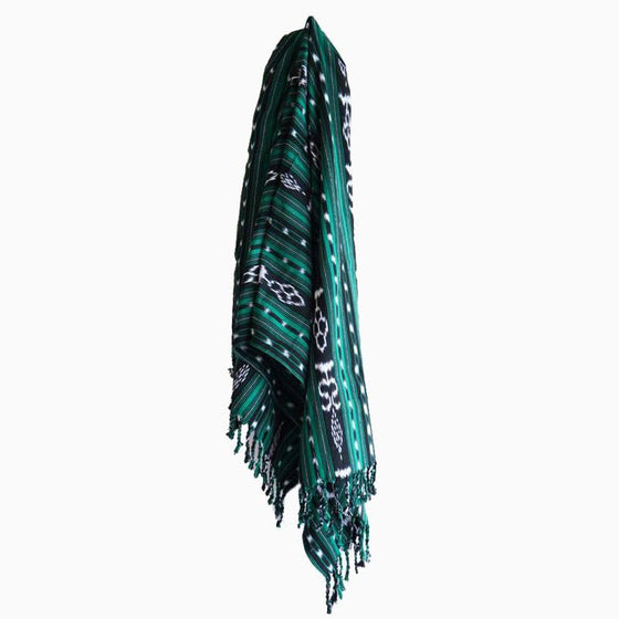 Green Pea Tassel Throw - sundayisle