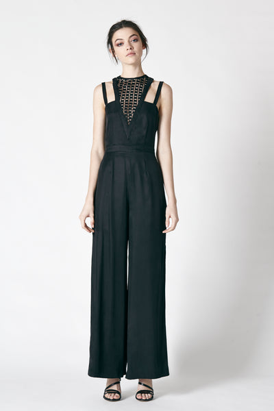 AFTERGLOW JUMPSUIT - BLACK