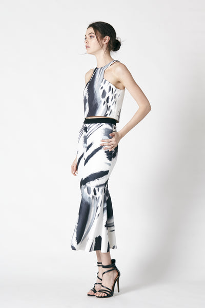 DRIFT DRESS WITH CROP TOP - PRINT