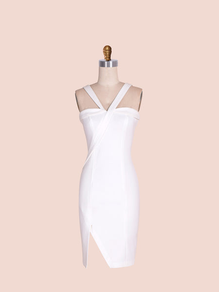 Angelina Dress - white