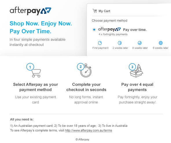 Afterpay Available at Buyworthy