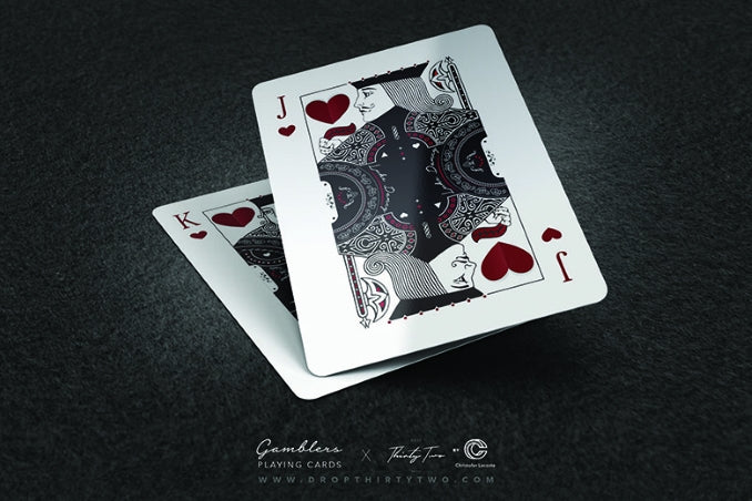 Gamblers Playing Cards by DropThirtyTwo