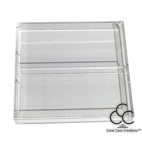 Playing Card Carat Case Empty Clear Strong Acrylic ~ Holds 6 Decks