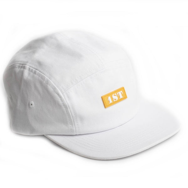 1st Hat Cap by Chris Ramsay White Limited Edition Five Panel design In-Stock