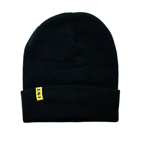 1st Black Beanie by Chris Ramsay Black Gold 1st Tag Premium Clothing