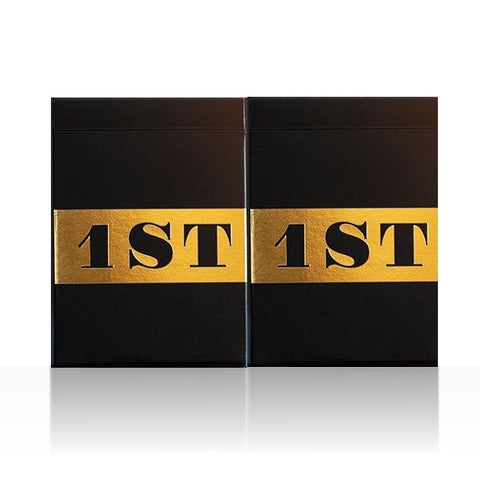 1st Playing Cards by Chris Ramsay V2 Black Edition Gold Foil 2-Deck Set