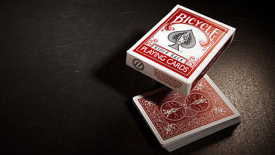 Buyworthy:Titanium Rider Back Crimson Red Edition Playing Cards Deck ~ Metallic Ink