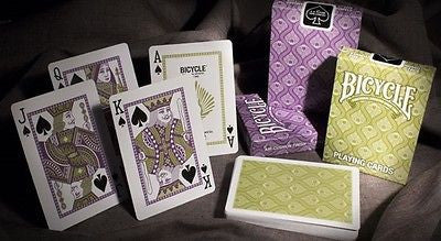 Buyworthy:Peacock Purple Violet Premium Poker Playing Cards Deck Bicycle Brand New