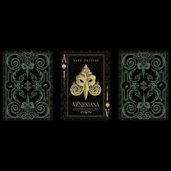 Venexiana Dark Playing Cards Rare Luxury deck by EPCC Silver Masked Edition
