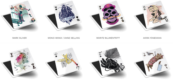 52 Aces Playing Cards Limited Edition Case Rare V3 Illustrations - 2 Decks