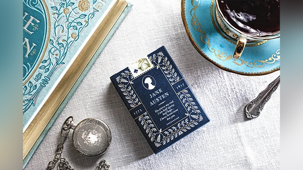 Jane Austen Playing Cards by Art of Play Gold Foiled tuck