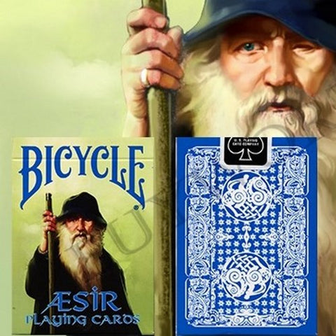 Aesir Playing Cards Norse Mythology Deck Vikings Blue