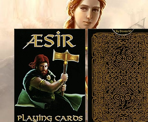 Aesir Playing Cards Norse Mythology Viking Black & Gold