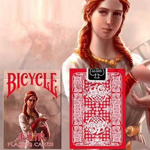 Aesir Playing Cards Norse Mythology Magic Deck Vikings Red