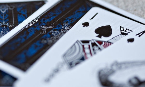 Artifice Blue Playing Cards Ellusionist Black Wooden Box Set