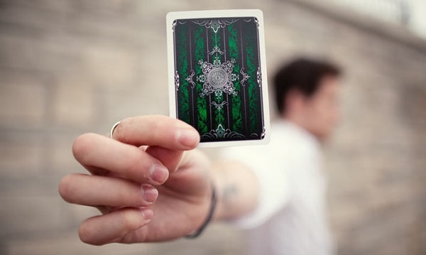 Artifice Green Playing Cards Ellusionist Black Gloss Wooden Box