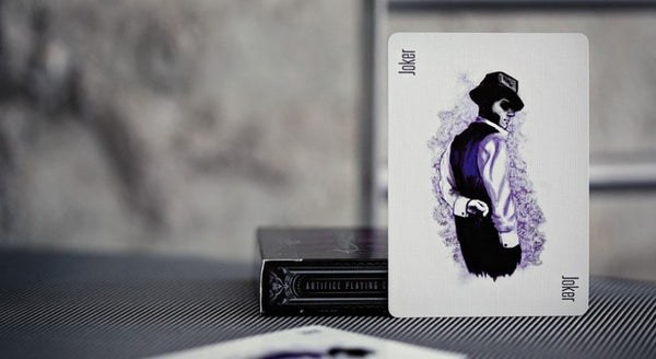 Artifice Purple Playing Cards by Ellusionist Black Gloss Wooden Box