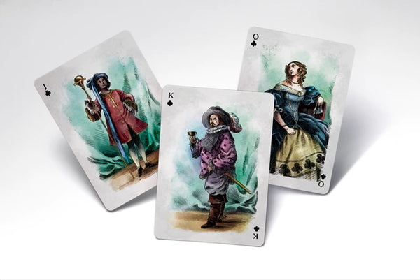 A Motley Pack Playing Cards Royal Edition art by Garnet Walch 1875