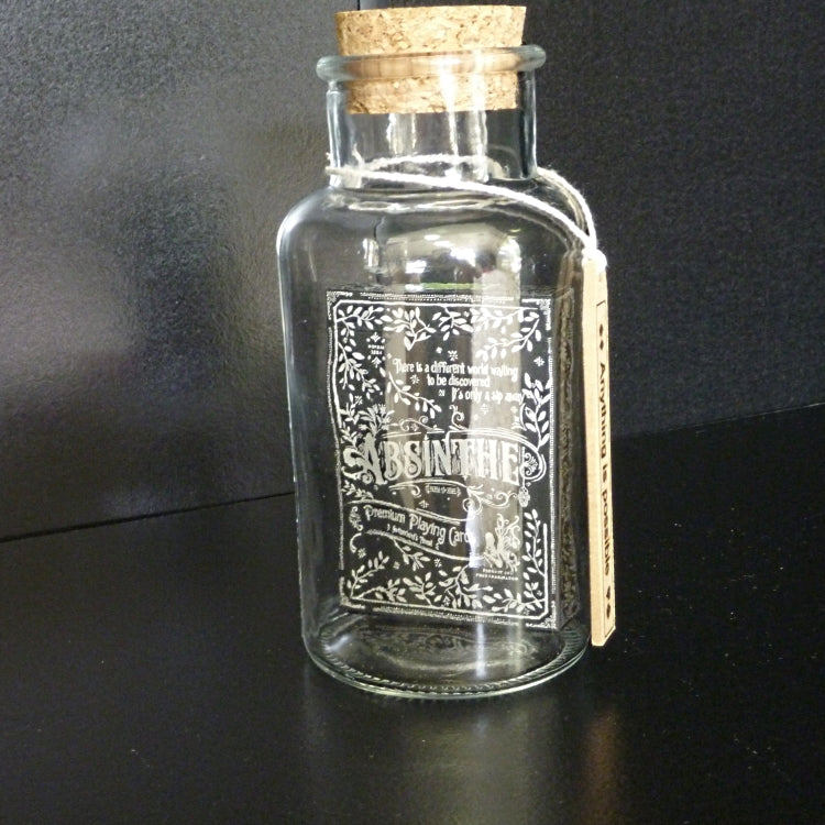 Absinthe Playing Cards deck in a Glass Bottle Magic Collectors AIP