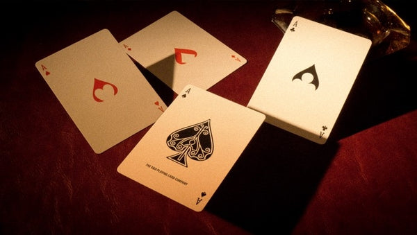 Ace Fulton's Orange Playing Cards Rare Casino Cambric 37 D&D