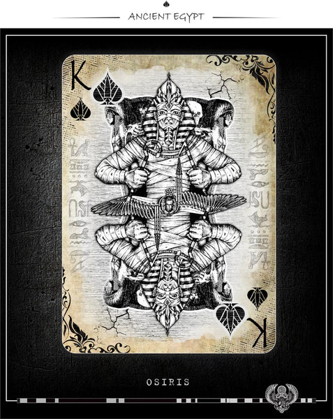 Aces of Egypt Playing Cards Gold Foil Tuck Ancient Egyptian
