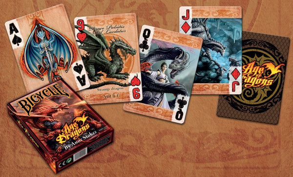 Age of Dragons Playing Cards by Anne Stokes Fantasy Artist