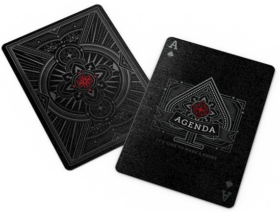 Agenda Playing Cards Black Edition Numbered Seal