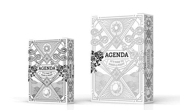 Agenda Mini Playing Cards White Edition Deck by Flagrant Agenda