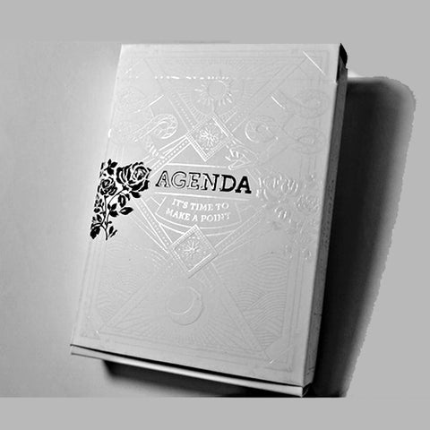 Agenda Playing Cards White Edition Numbered Seal