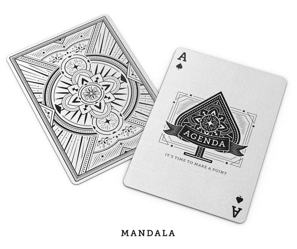 Agenda Playing Cards Black & White Editions Set 2 Decks