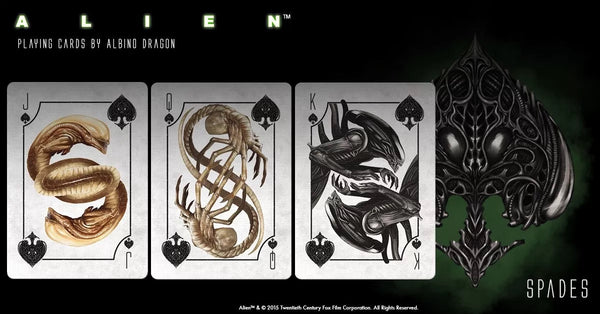 Alien Playing Cards Officially Licensed by Albino Dragon USA