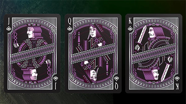Alloy Amethyst Playing Cards Rare Purple Iridescent Foil on all cards