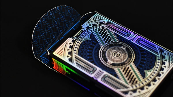 Alloy Playing Cards Cobalt Blue LTD Edition Rare Iridescent Foil front & back