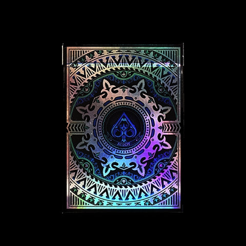 Alloy Playing Cards Blue LTD Edition Rare Iridescent Foil front & back