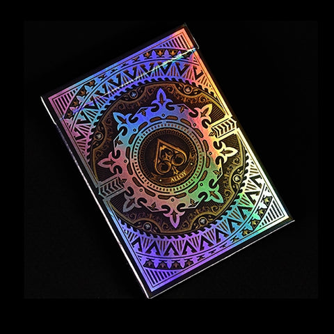 Alloy Copper Playing Cards Rare Iridescent Foil on all cards